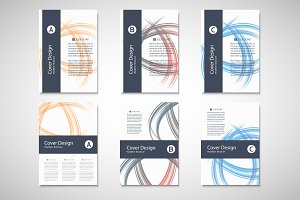 Abstract line brochure design Vol.4