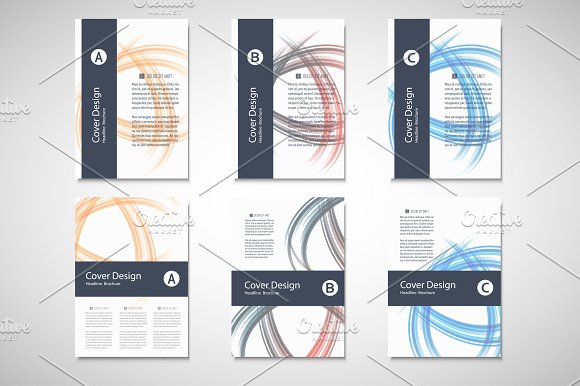Abstract line brochure design Vol.4 - Brochures