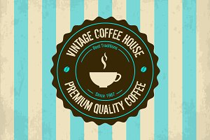 Vector vintage coffee logo