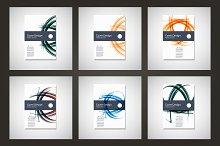 Abstract line brochure design Vol.5