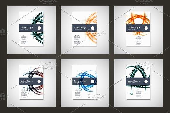 Abstract line brochure design Vol.5 - Brochures