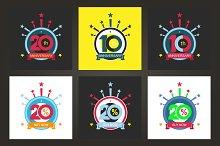 Set 20th and 10th symbol
