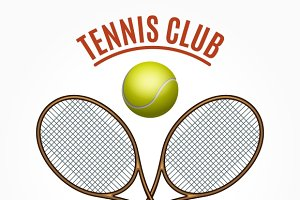 Tennis team club label