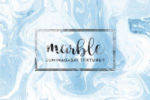 Suminagashi Marble Paper Textures