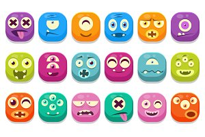 Cute Monster Web Icons
