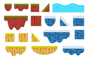 Textures for Platformers Vector Set