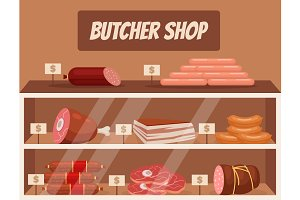 Meat market. Butcher shop