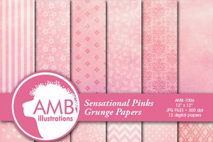 Shabby Chic Pink Papers 1006