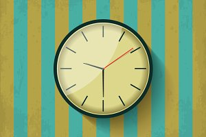 Vector vintage mechanical wall clock