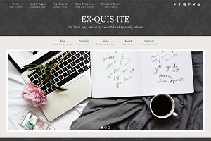Exquisite Damask WordPress Theme