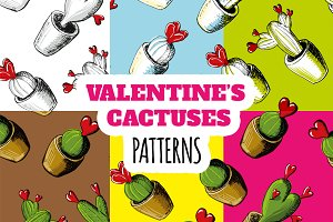 Valentines Cactuses Patterns