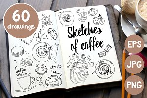 Sketches of coffee