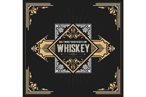 Vintage label design for Whiske