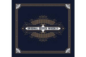 Old  label design for Whiskey