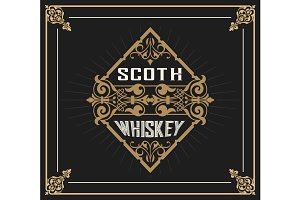 Art-deco Whiskey card