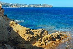 Calpe summer coast, Spain.