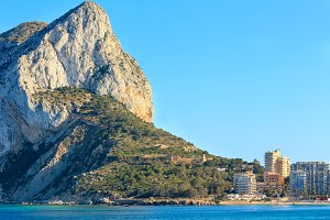Calpe summer coast, Spain.