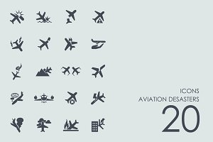 Aviation desasters icons
