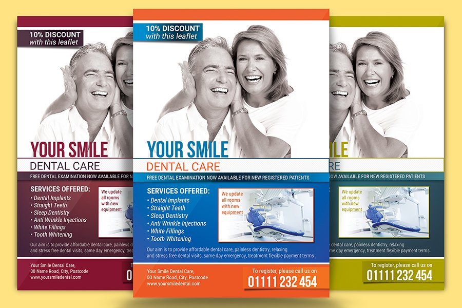 Dental Care Flyer Template Flyer Templates Creative Market