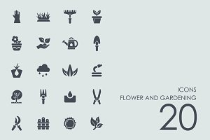 Flower and gardening icons