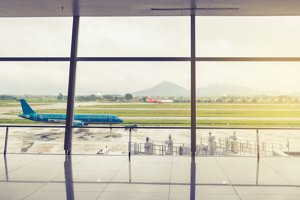 Blur background,Airport outside