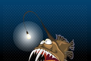 Angler fish with lantern