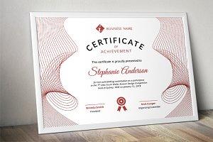 Line curve certificate docx template