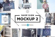 Shop sign mockup 2