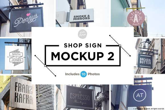 Download Shop sign mockup 2