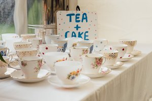 a photo of vintage tea cups