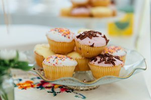 a photo of cupcakes