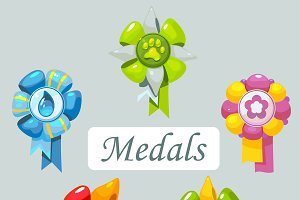 Сartoon medals for pet
