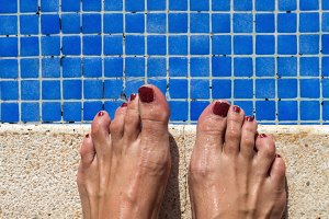 swimming pool water rippled detail