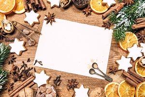 Christmas sweet food ingredients