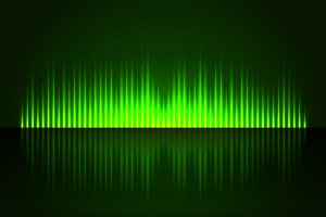 Green Digital Abstract Equalizer