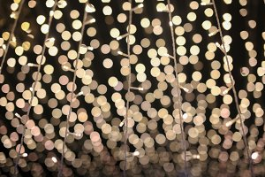Bokeh lights from beautiful Christmas light decoration for background