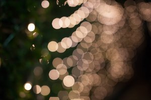 Beautiful Christmas bokeh lights for background