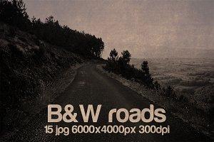 vintage B&W roads