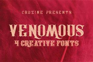 Venomous Typeface