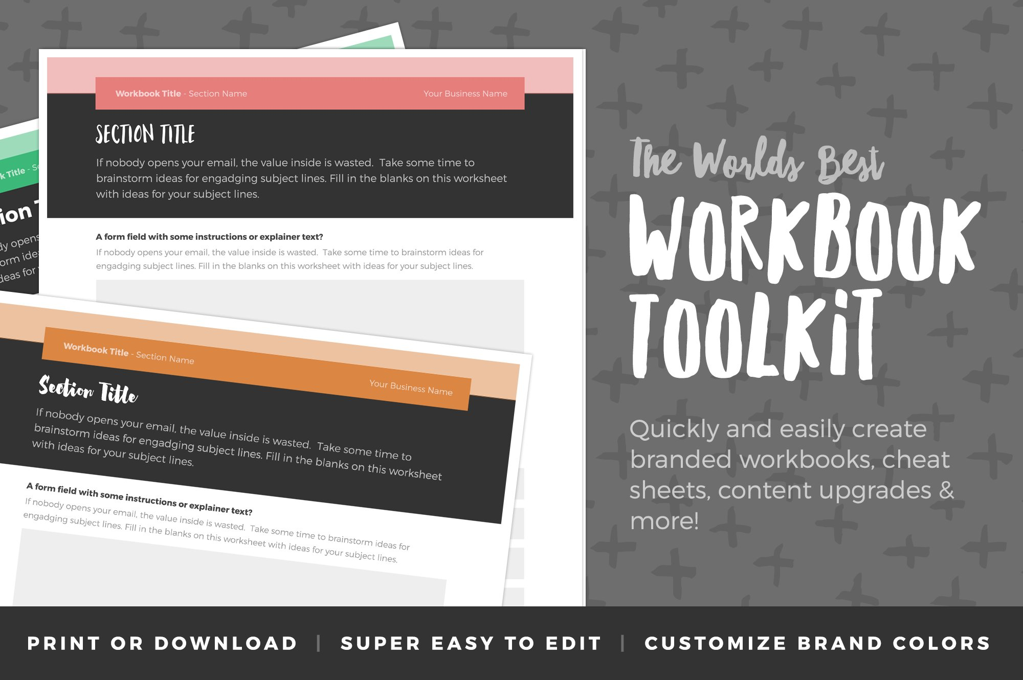 Workbook Toolkit Vol 3 ~ Stationery Templates ~ Creative Market