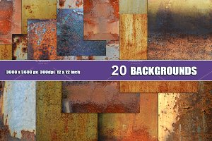 20 RUST TEXTURE BACKGROUNDS