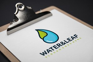 Water and Leaf-Nature Logo