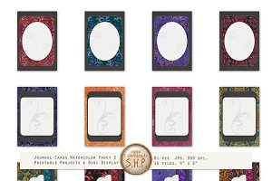 Watercolor Fancy Dark  Elegant Cards