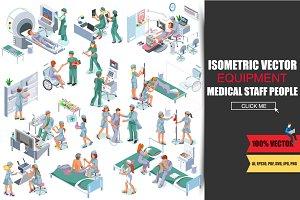 Medical Staff People Isometric