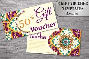 3 Gift voucher templates