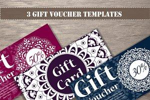 Gift voucher templates