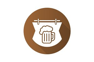 Wooden bar sign icon. Vector