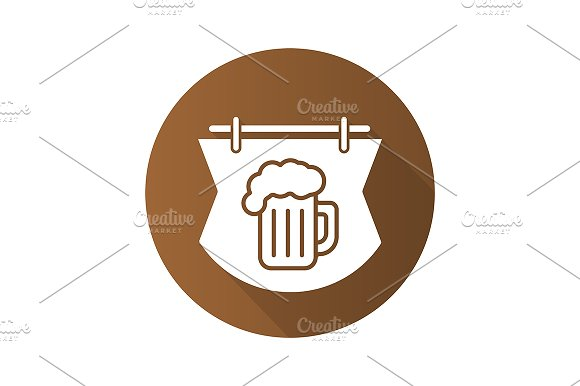 Wooden bar sign icon. Vector - Icons