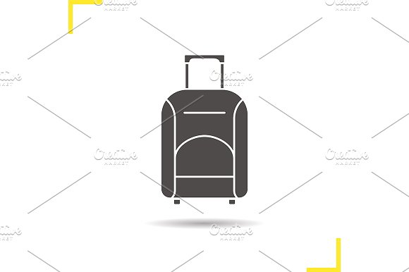 Luggage suitcase icon. Vector - Icons