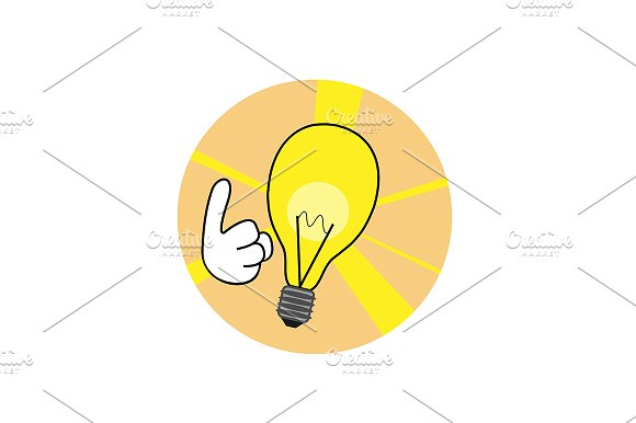 Idea icon, point up. Vector